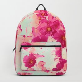 Prim Roses Flowers Garden Red Backpack