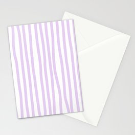 Lavender Stripes Stationery Cards