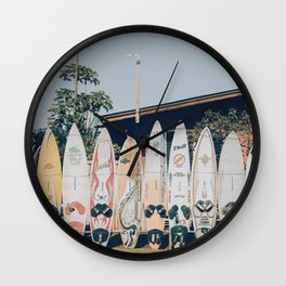 lets surf xv Wall Clock