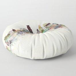 minneapolis minnesota skyline Floor Pillow