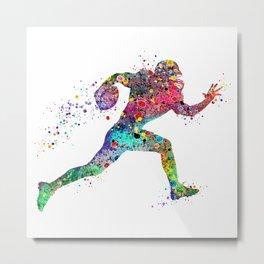 Football Player Sports Art Print Watercolor Print American Football Metal Print