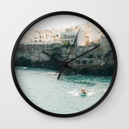 Summer in the riviera Wall Clock