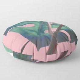 Monsteras on Pink II Floor Pillow