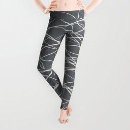 Hand Drawn Scribbles (Charcoal Grey) Leggings