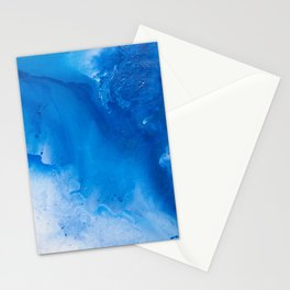 Liquid Dark Blue Stationery Cards