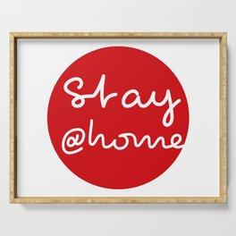 Stay at Home - Red Dot Works Serving Tray