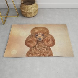Drawing Toy poodle Rug