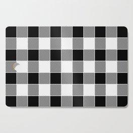 Buffalo Check - black / white Cutting Board