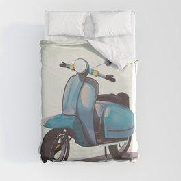 Vintage Scooter Duvet Cover