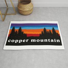 Copper Mountain Colorado Ski Snowboard Resort Skier Snowboarder Winter Park Gift Ideas Rug