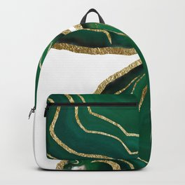 Emerald Agate Gold Glam #1 #gem #decor #art #society6 Backpack