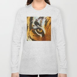 Real Tiger Eye! Up Close and Very Personal Long Sleeve T-shirt