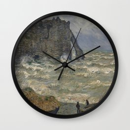 Rough Sea at Etretat - Claude Monet Wall Clock