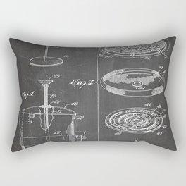 Coffee Filter Patent - Coffee Shop Art - Black Chalkboard Rectangular Pillow