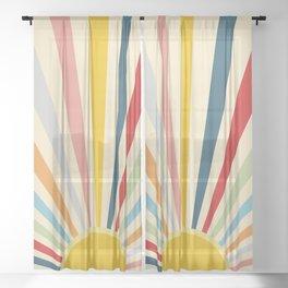 Sun Shines Inside you Sheer Curtain
