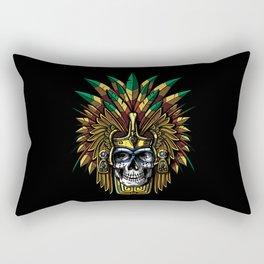 Aztec Warrior Skull Mask Native Indian Mexican Rectangular Pillow