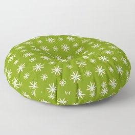 geometric flower 100 green Floor Pillow