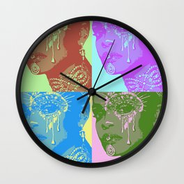Queen Rih pop Art Wall Clock