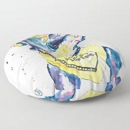 Pitbull, Pit Bull Watercolor Pet Portrait Pinting - Diesel Floor Pillow