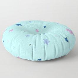 Little blue stars Floor Pillow