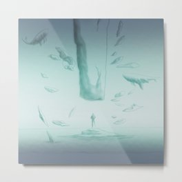 To drown in the void Metal Print