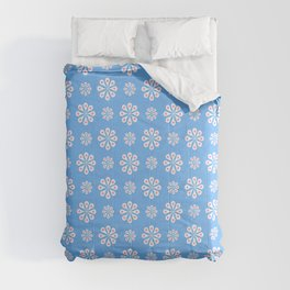 geometric flower 60 blue and pink Comforters