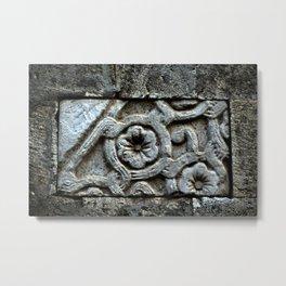Medieval Carved Stone Wall Metal Print