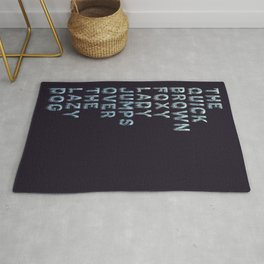 The quick brown foxy Lady - Ice Cold Color Rug