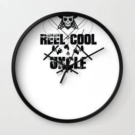 New Fisherman Design Reel Cool Uncle Wall Clock