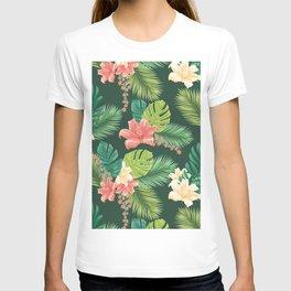 Kitschy Tropical Pattern T-shirt