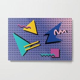 Memphis Pattern 9 - 90s - Retro Metal Print