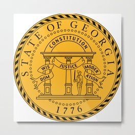 State Seal of Georgia  Metal Print