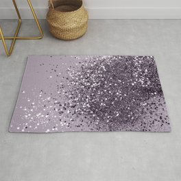 Sparkling Lavender Lady Glitter #2 #shiny #decor #art #society6 Rug