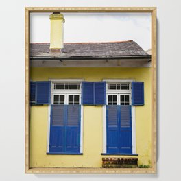 Yellow Creole Cottage French Quarter New Orleans Serving Tray