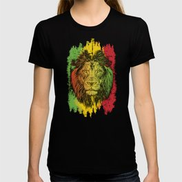 Rasta Jamaican Lion Gift for Rastafari & Reggae music fans graphic T-shirt