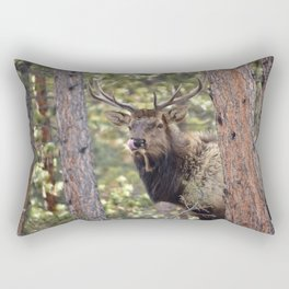 Rocky Mountain Elk Rectangular Pillow