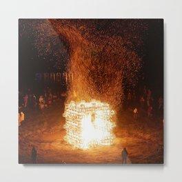 Burning the Effigy Metal Print