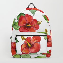 Hibiscus Floral Print Backpack