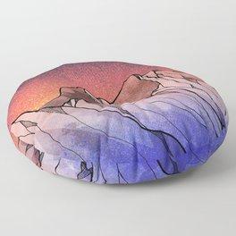 Mount Sunset Floor Pillow