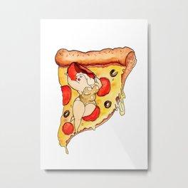 Plumperoni Pizzaz Metal Print