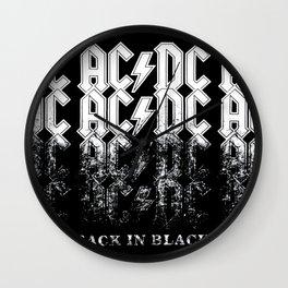 AC/DC - Back in Black Wall Clock