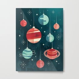 Joy to the Universe (in Teal) Metal Print