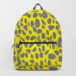 Gray Spots on Yellow Backpack