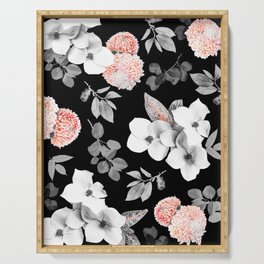Night bloom - moonlit flame Serving Tray