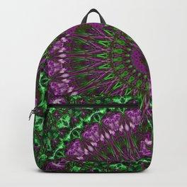 Vivid pink and green mandala Backpack