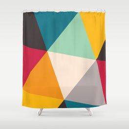 Geometric Triangles Shower Curtain