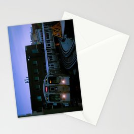 On Time El Train Chicago Train Windy City Transit Red Line L Train Stationery Cards