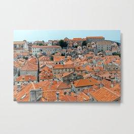 Dubrovnik Old Town roofs - Croatia Metal Print