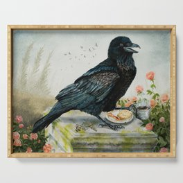 Breakfast With the Raven Serving Tray