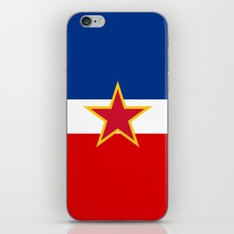 Yugoslavia National Flag iPhone Skin